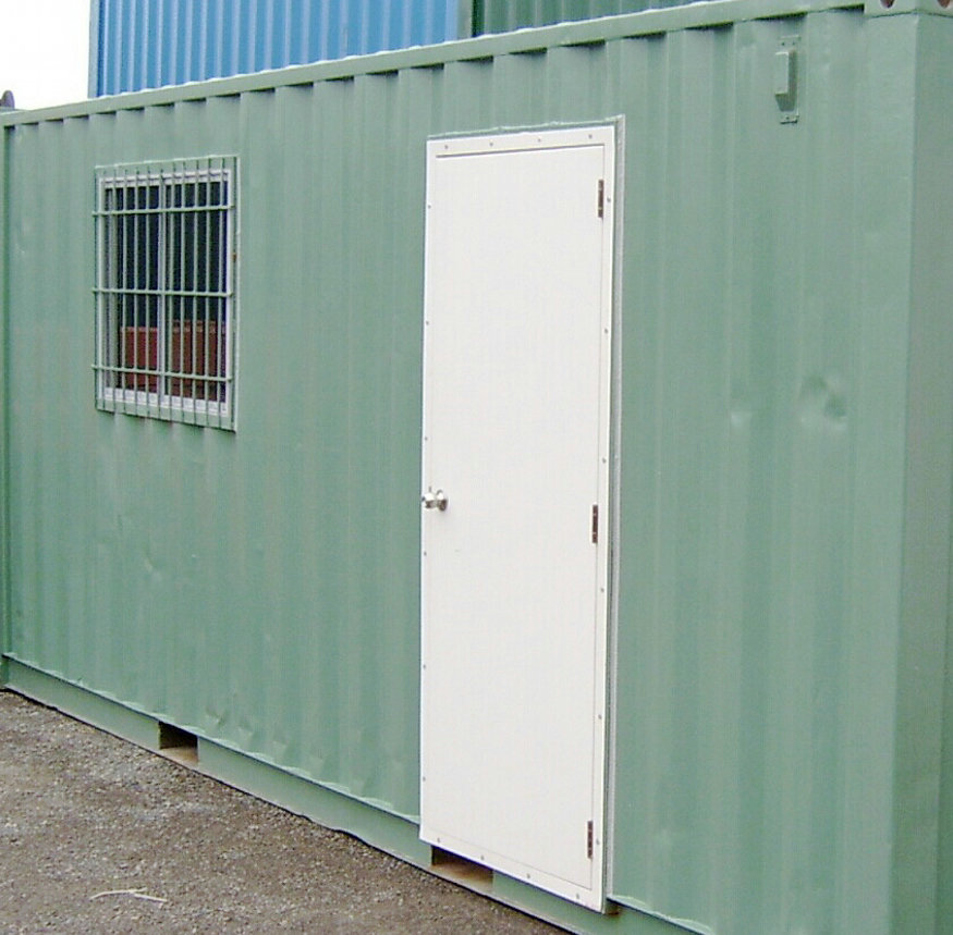 PA door for modified containers