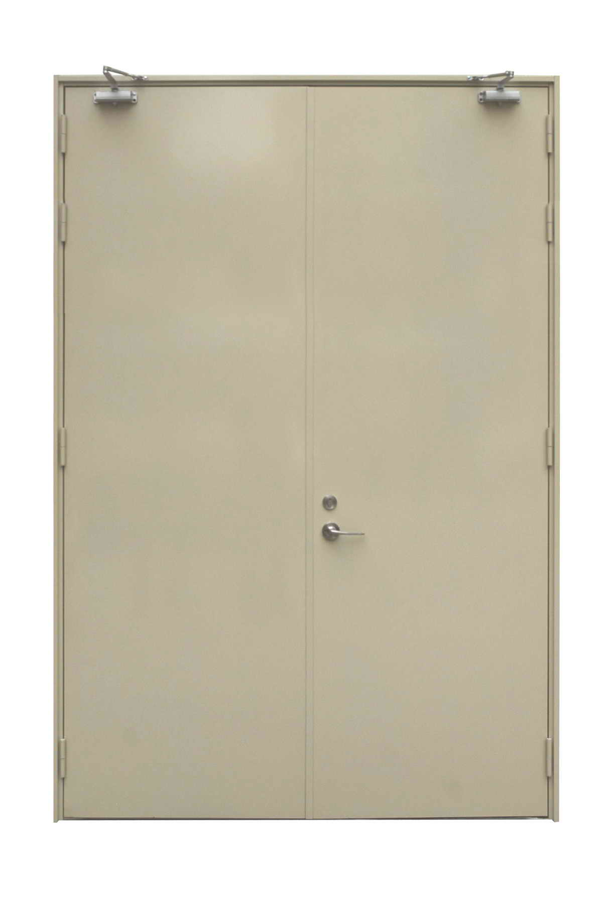 Double Steel Doors : Double steel door for industrial buildings