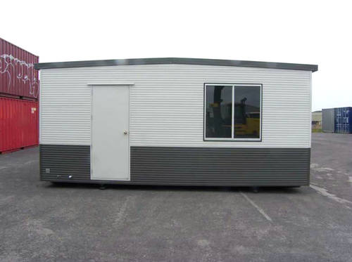 Metal door for transportable building